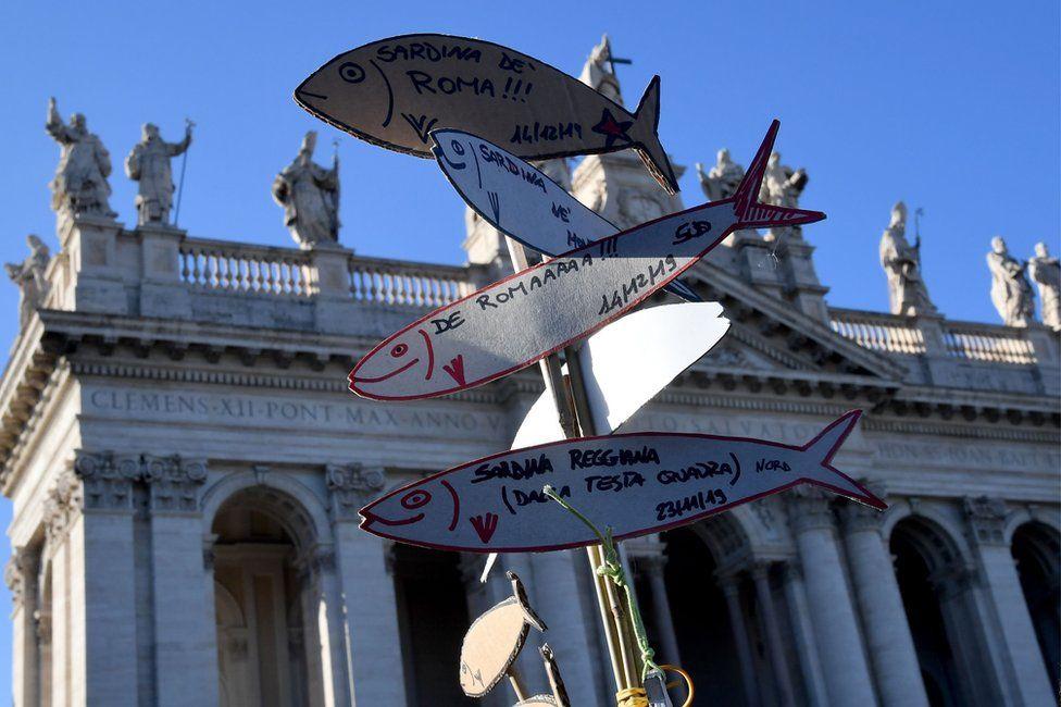 sardine a san giovanni Roma dicembre 2019