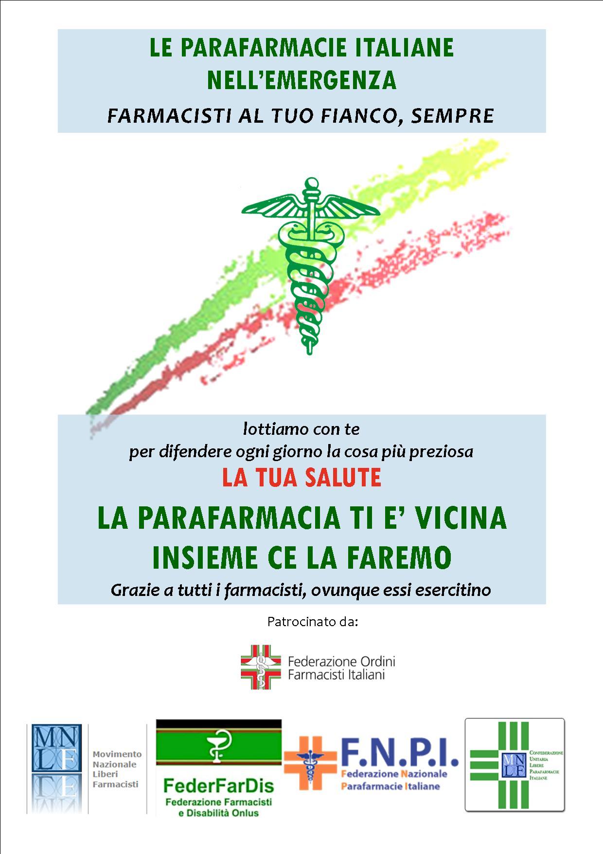 Covid-19 Manifesto delle parafarmacie