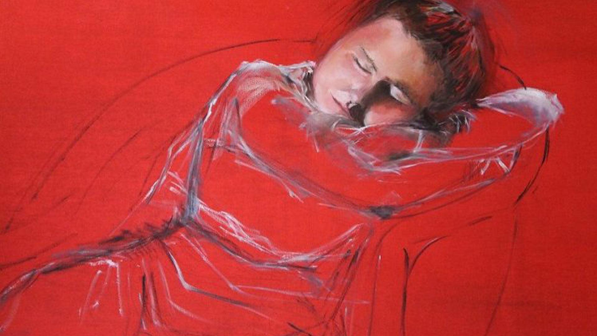 Benedetta Trudesti - La Bimba Dormiente tecnica olio su tela 120x100 cm anno 2013